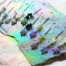 Ganja Goddess Crystal Earrings