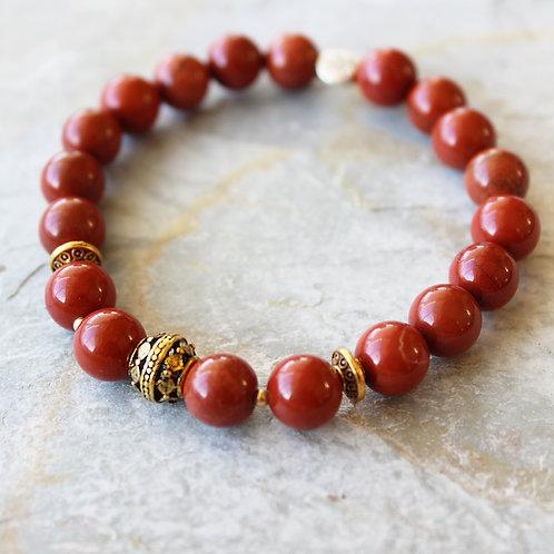 Red Jasper Crystal Intention Bracelet Crystal Bracelet Crystal Healing Bracelet