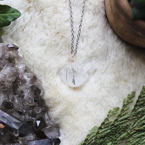 Amethyst Crystal Necklace Clear Amethyst Healing Jewellery