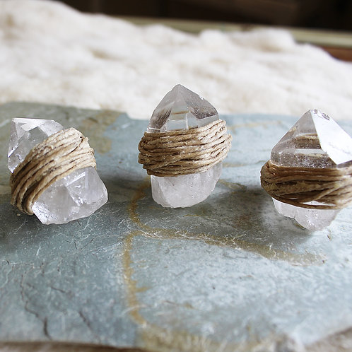 Hemp Wick Quartz Crystal