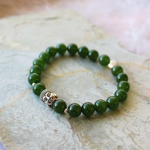 Green Jade Crystal Intention Bracelet Crystal Bracelet Crystal Healing Bracelet