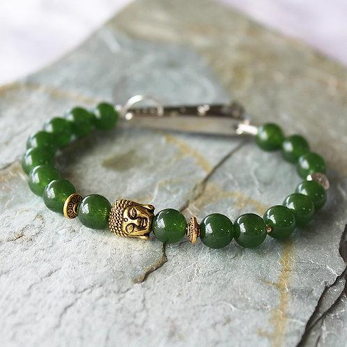 Green Jade Crystal Roach Clip Bracelet Crystal Healing Bracelet LOVE