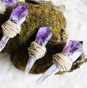 Amethyst Hemp Wick Crystals