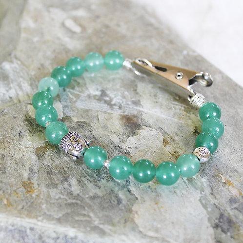 Green Aventurine Crystal Roach Clip Bracelet | LOVE | ABUNDANCE