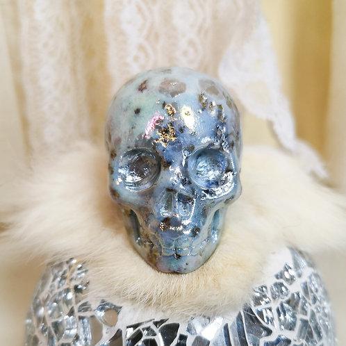 Angel Aura Kiwi Jasper Skull