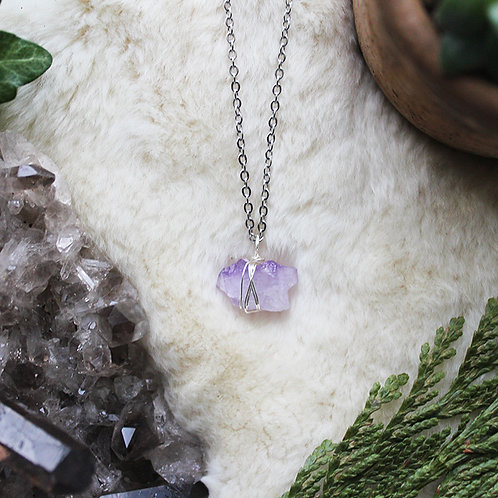 Amethyst Crystal Necklace Healing Jewellery Anxiety and Stress Relief