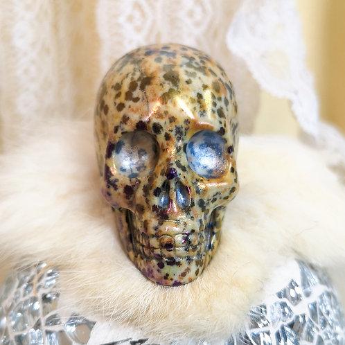 Angel Aura Dalmatian Jasper Skull