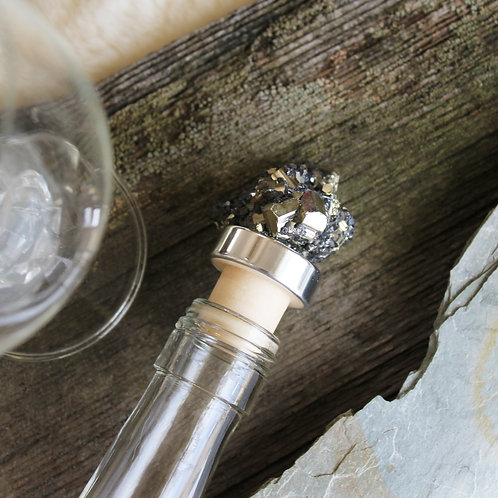 Pyrite Crystal Bottle Stopper Crystal Wine Cork Home Bar Accessory