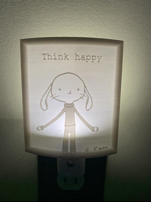 "Corwin ""think happy"" nightlight"