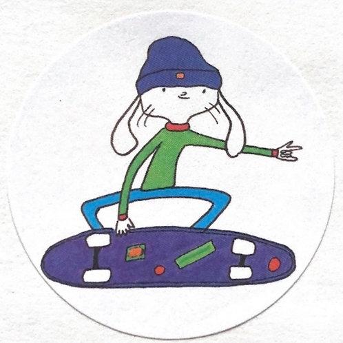 """2"""" Skateboarding Corwin sticker"""