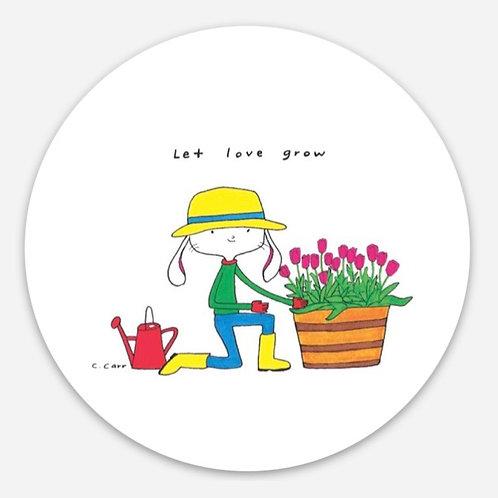 Let love grow sticker