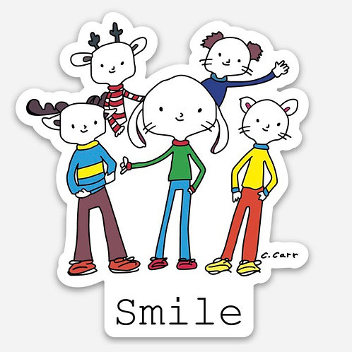 """Corwin and the gang... """"Smile"""" sticker"""