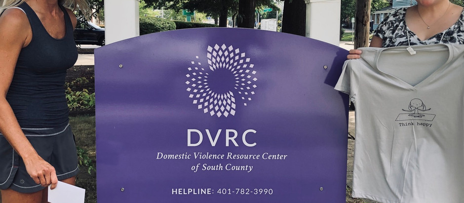 Corwin donates $350 to the Domestic Violence Resource Center of South County