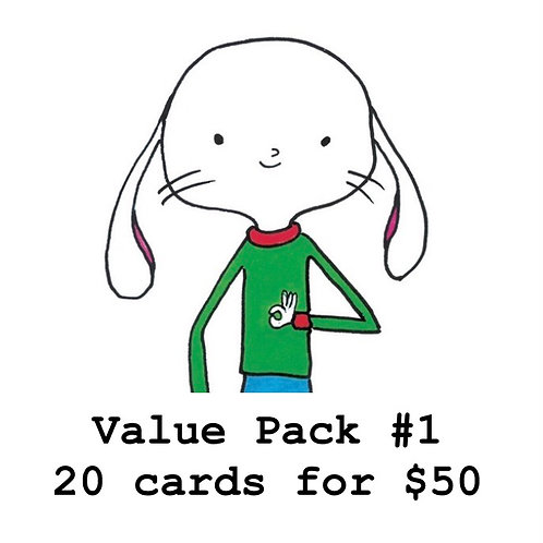 Value Pack #1 ...20 cards for $50