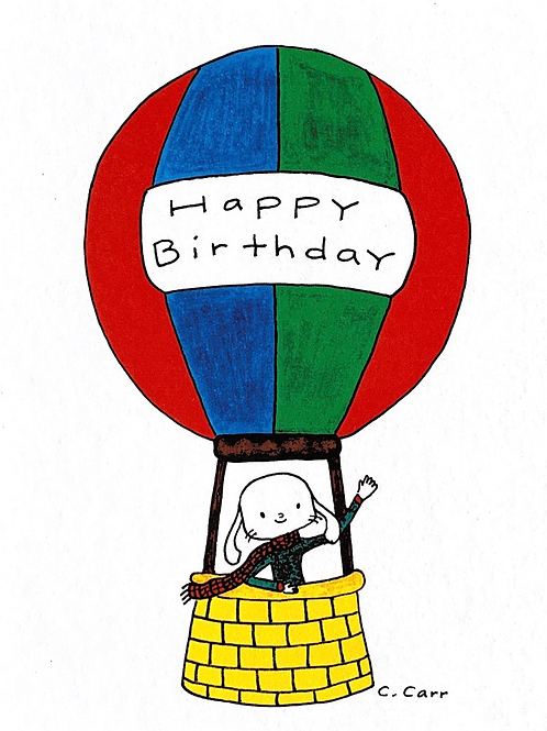 74 - Happy Birthday (hot air balloon)