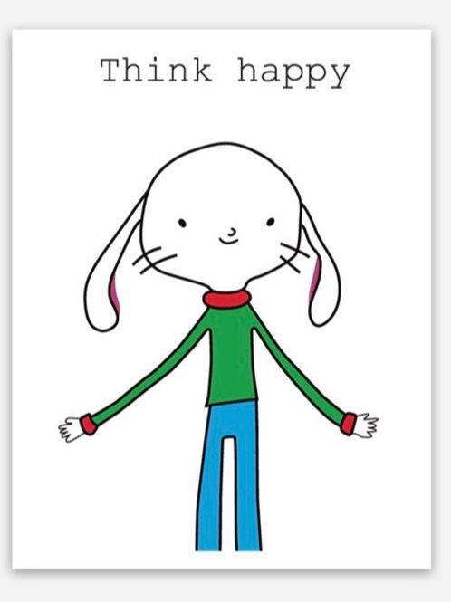 """Think happy"" magnet"