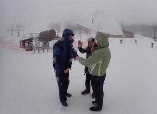 Wedding vows at Annupuri ski field