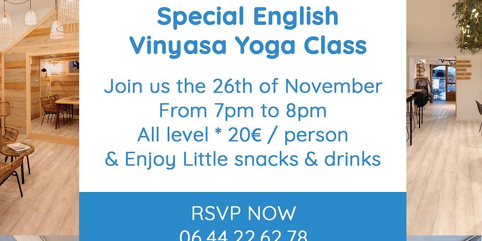 Special English Yoga class @Haven Café