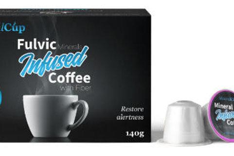 Dosettes de café enrichies en Minéraux et Acide Fulvic NüWTR - 12 capsules