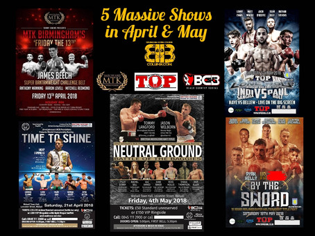 Five Massive Shows in April & May