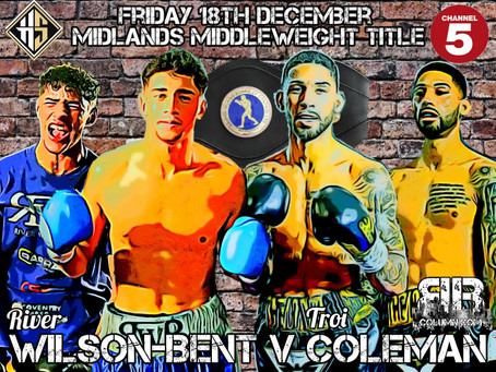 Wilson-Bent's Opponent Named for Midlands Middleweight Challenge