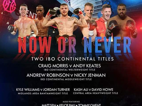 Now or Never BcB Promotions Genting Arena