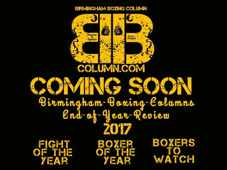 Birmingham Boxing Column Year Review 2017