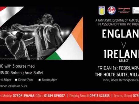 England v Ireland Amateur boxing Show