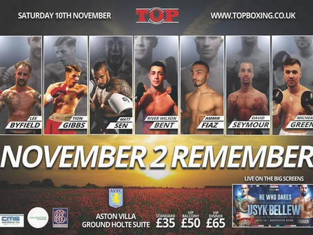 November 2 RememberTOPromotions10/11/18