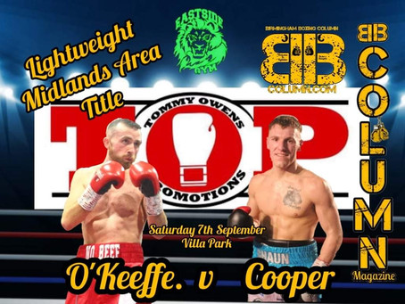 Jack O'Keeffe v Shaun Cooper Another 50/50 Fight Announced