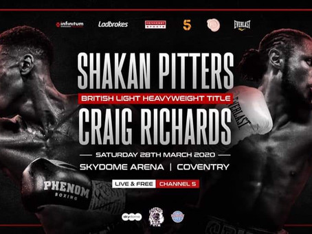 PITTERS V RICHARDS BRITISH TITLE THRILLER LANDS AT COVENTRY SKYDOME