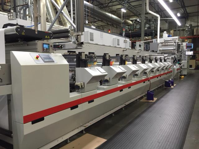 Bobst M-5 printing press with digitalflexoHD technology