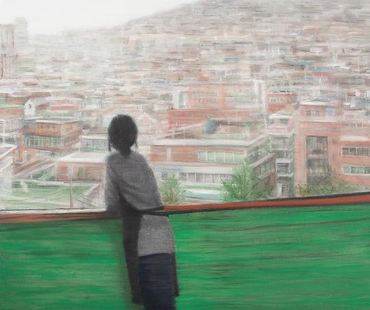 옥상(Rooftop)   91x116.8cm   oil on canvas