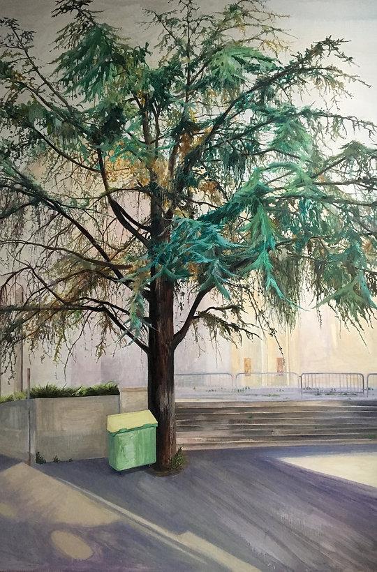 palais de tokyo, oil on canvas, 130x192,