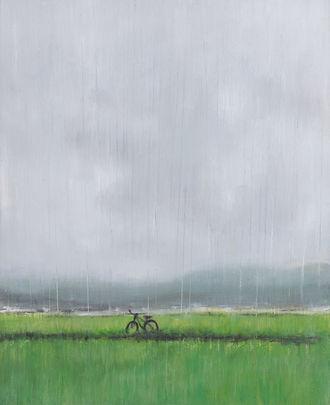 소나기(A rain shower) 28x23cm oil on canvas