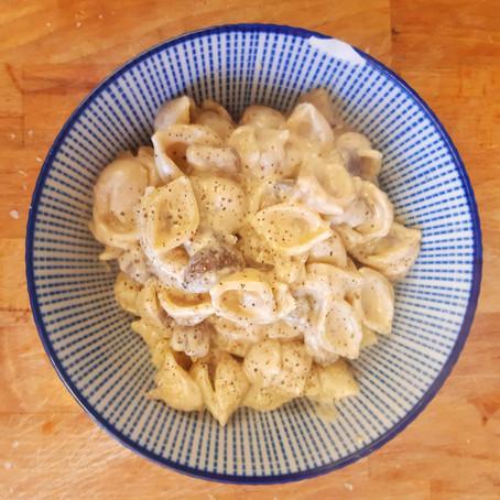 Cashew carbonara