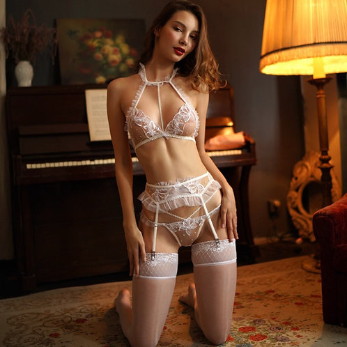 CJ712- Embroidered tulle set