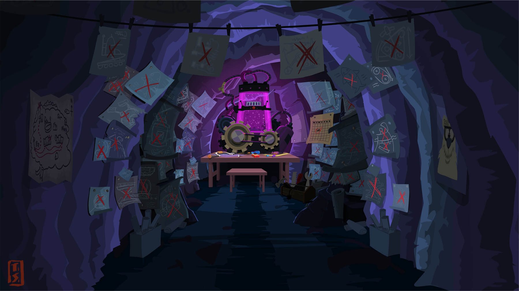 Disney Club Penguin cave