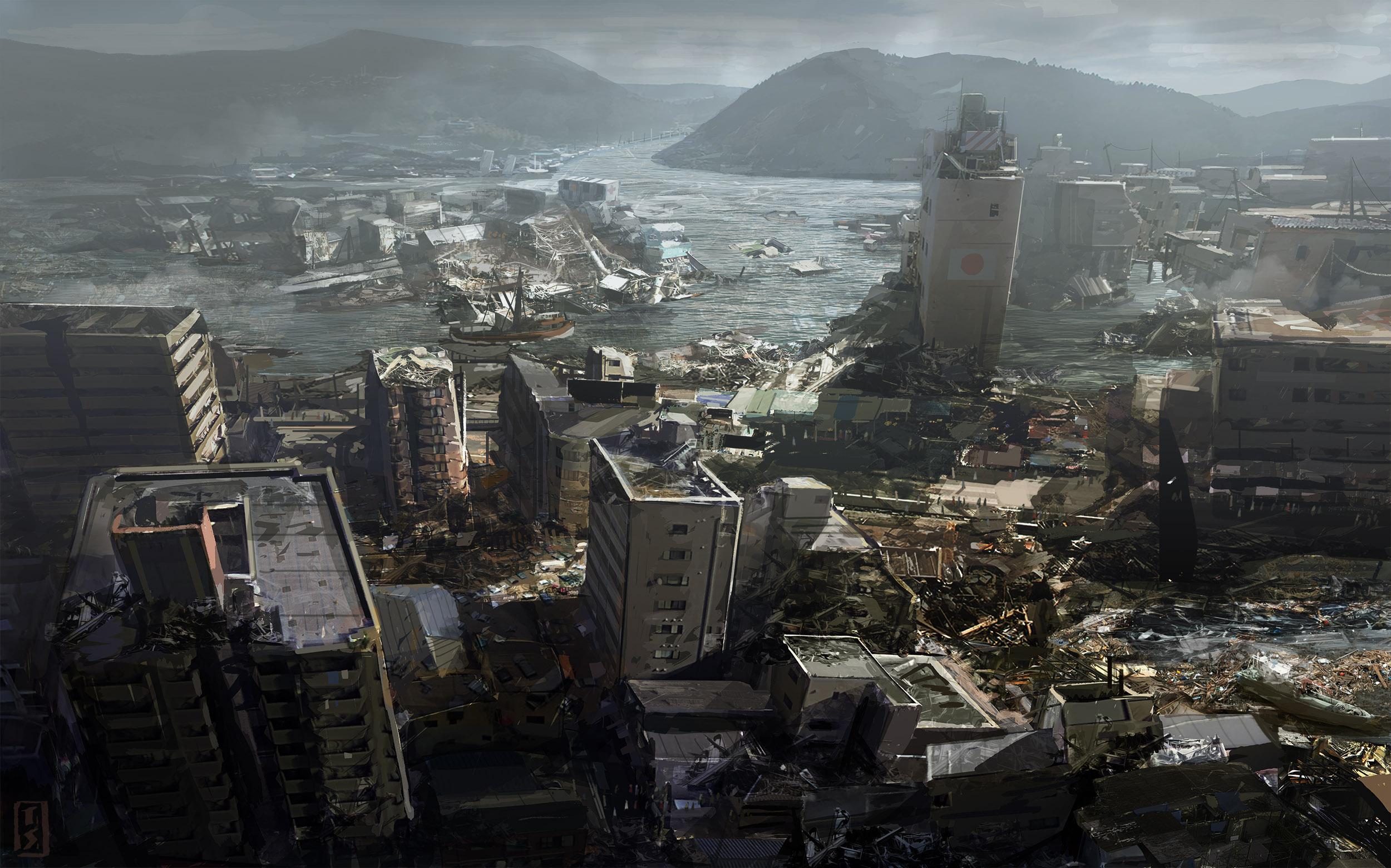 Tokyo earthquake damage