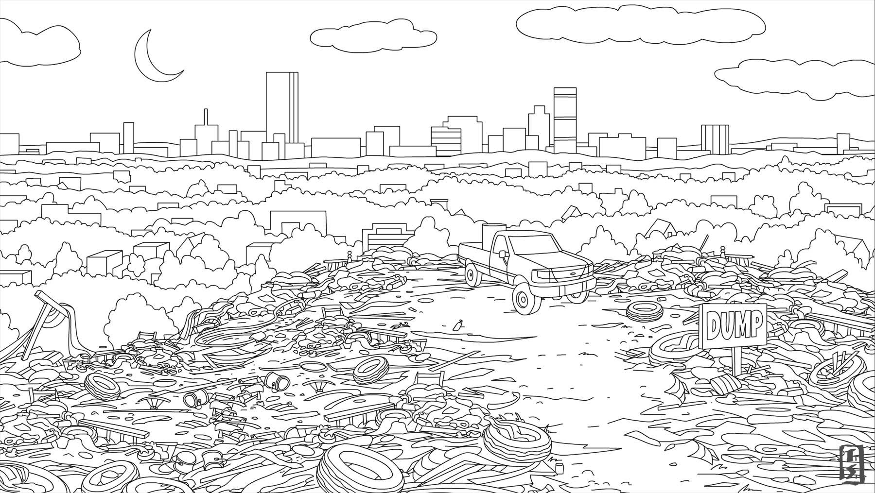 Bojack Horseman city dump