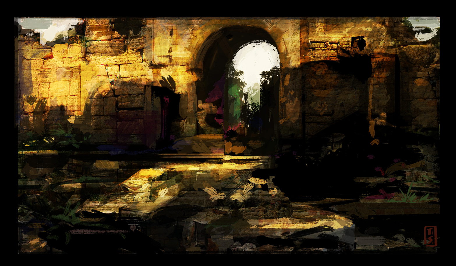 Roman Gate color study