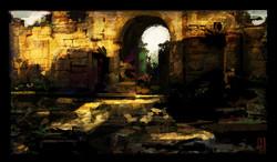 Roman Gate color study