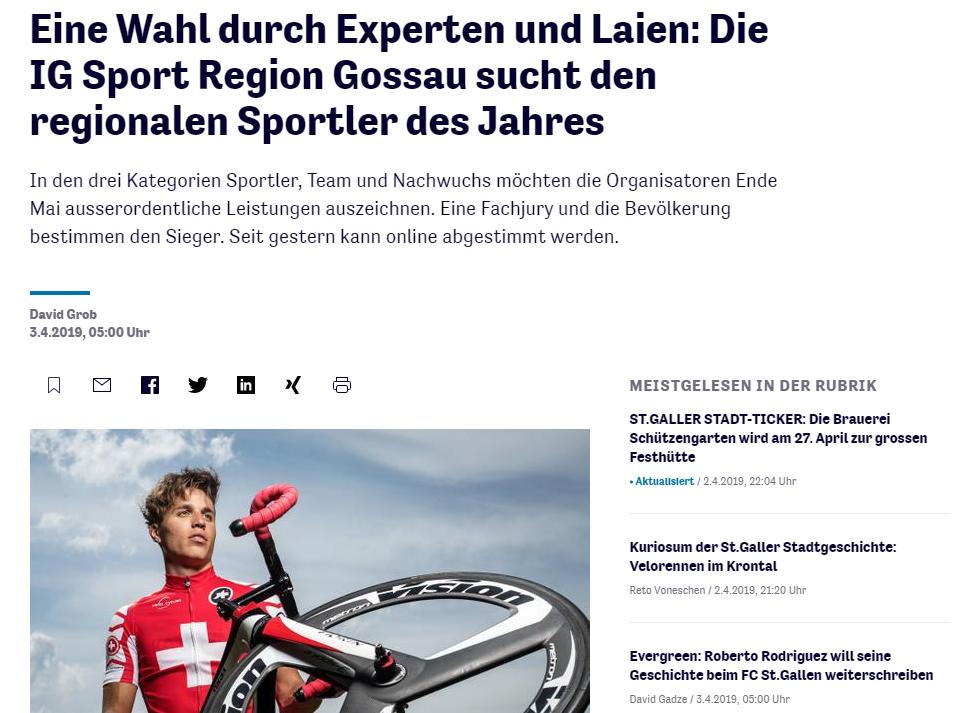 St. Galler Tagblatt / Wahl 2019
