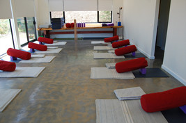Yoga room for Andrew's retreats at Nar N