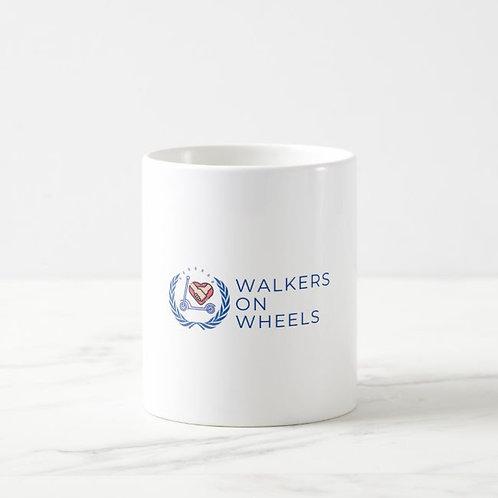 White Porcelain & Plastic Mug