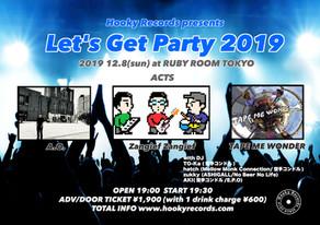レーベル企画「Let's Get Party 2019」開催決定!