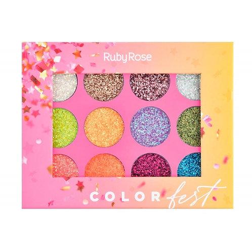 Sombras Glitter Color Fest Ruby Rose Al Por Mayor