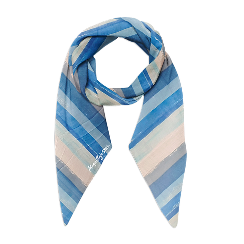 Pashmina 19MA01-2 Azul Al Por Mayor
