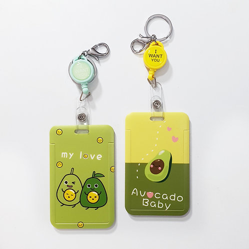 Porta Carnet En Plástico Avocado