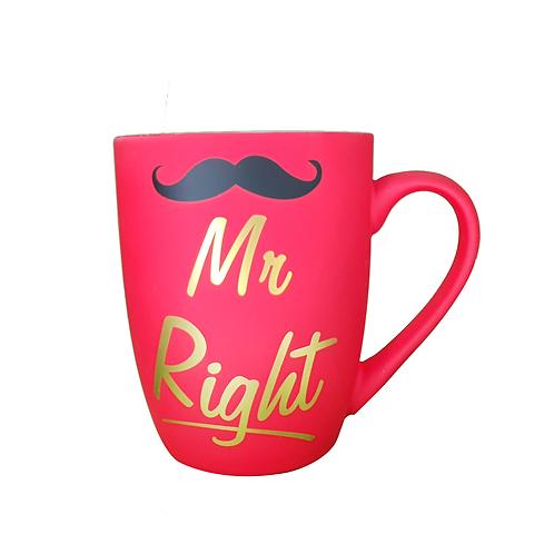 Mug Mr Right Rojo Al Por Mayor